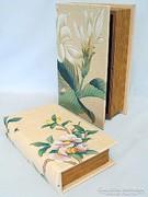 Könyv doboz 2 db (virágos)