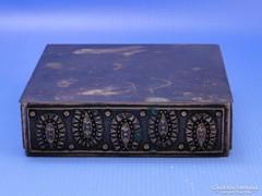 0B702 Iparművészeti réz ékszertartó fedeles doboz