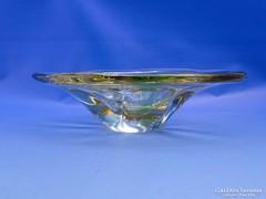 0C663 Fújtüveg BOHEMIA művészi üveg tál
