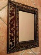 HANDMADE IN PERU Antik különleges tükör 32,2x26 cm