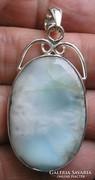 925 ezüst medál dominikai larimárral, szép felhős