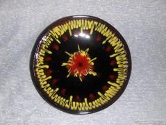 Iparművész jelzett kerámia fali tányér (16/d)