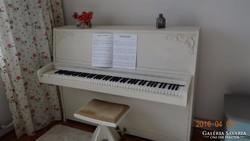 Vintage Rösler Pianinó,festett,antikolt