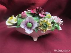 Álomszép virágkaspó  580 gramm tömör porcelán