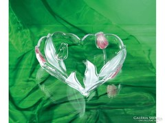 Walterglass szív alakú tulipános kínáló