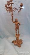 Gyönyörű figurális 4 ágú figurális réz gyertyatartó 51 cm