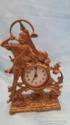 Gyönyörű réz asztali órakeret retró órával 21 cm