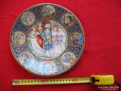 Francia porcelán dísztányér Franklin Limoges 24 cm jelzett