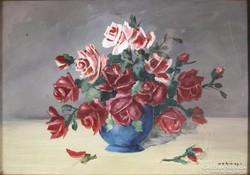 Magyar festő, XX. sz. első fele : Rózsa csendélet