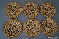 Zsolnay antik 6 db perzsa mintás tányér 1880 körül