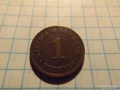 Nagyon szép 1 Pfennig 1910  !