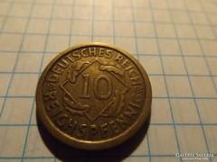 """Szép 10 Rentenpfennig 1925 """" A """" !"""