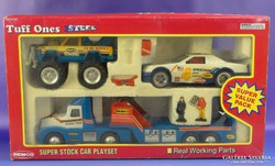 0F725 REMCO TOYS autós játék készlet dobozában