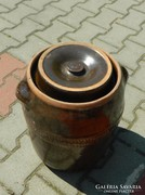 20 literes káposztasavanyító samott hordó - kerámia hordó