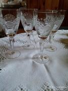 4 db Bohémia talpas kristály pohár készlet 19 cm