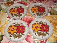 Kézzel festett 4 db tányér!