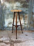 Art deco virágtartó asztal, posztamens, homokkő lappal