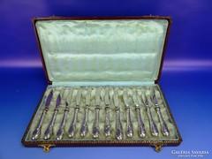 0D824 Szecessziós ezüst tortás kés készlet 12 db