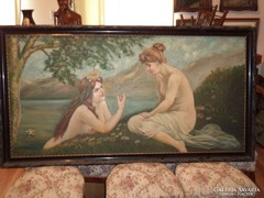 Hatalmas akt festmény 160x85cm