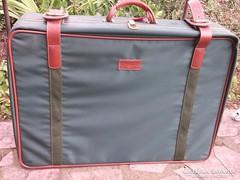 Vintage Schneiders Viena bőrönd bőr pántok,guruló,minőségi