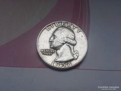 1958 ezüst negyed dolláros 6,25 g 0,900