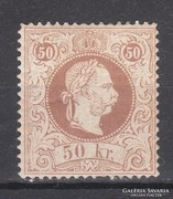 1867. Ausztria, finom nyomás 50 kr., Mi#41 II., (*)