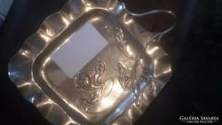 Szecessziós ezüst névjegy kínáló