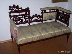 Szecessziós kanapé, szófa, frissen felújítva, restaurálva