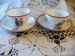 Zsolnay porcelán csésze tányérral