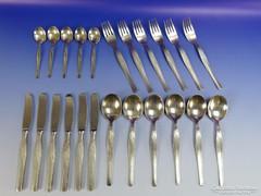 0G694 Régi ezüstözött orosz evőeszköz készlet