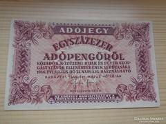 Hajtatlan Egyszázezer Adópengő 100 000 + Ingyen posta