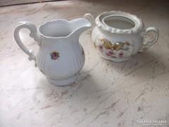 Antik porcelán kiöntő, cukortartó eladó!