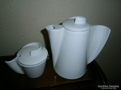 2 db Art deco elegáns vonalú porcelán