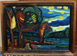 Duna part     csodás festmény