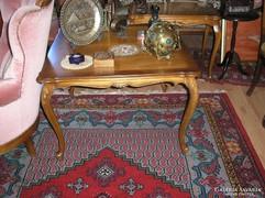 Chippendél barokk Warrings négyszögletes dohányzó asztal