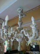 Capodimonte porcelán csillár , falikar és lámpa szett