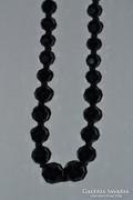 Csiszol üveg nyaklánc ( fekete )