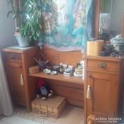 Szecessziós fésülködő asztal, szekrény