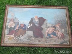 Antik olaj vászon SZABÓ (1895) -böl