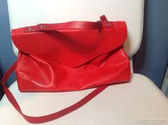 Piros retro női táska
