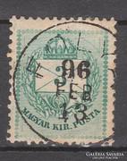 1890-91. szines számú 3 kr, II.lemez,