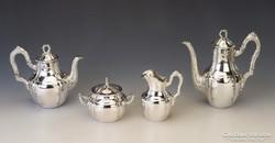Ezüst barokk stílusú kávéskészlet