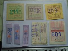 D137593 VOLÁN MÁV jegyek bérletjegyek