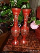 Elegáns indiai  fém vázapár