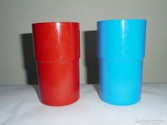 Retro műanyag pohár - 2 db