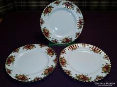 Royal Albert angol porcelán lapos tányér 3 db. EXKLÚZÍV!