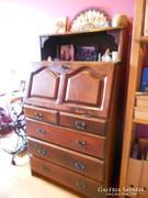 Sekreter Nevada 5 fiókos lenyitható ajtós 134x75 cm
