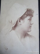 BLAHA LUJZA eredeti CVD fotó 1888 BUDAPEST