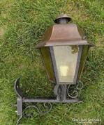 Kültéri kovácsoltvas-vörösréz lámpa !