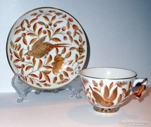 HERENDI mandarinfogós ZOVA dekoros kávés csésze és alj